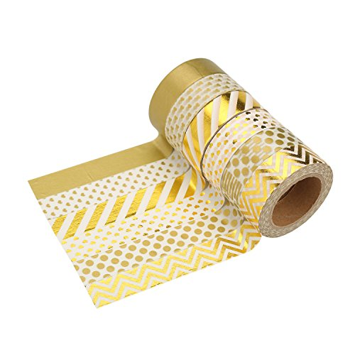 LATH.PIN 6 rouleaux Washi Tape Masking tape- Ruban Adhésif Papier Décoratif – 15mm x 10M