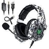 Deruitu Gaming Headset für PC PS4 Xbox One