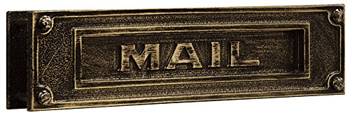 Salsbury Industries 4075A Deluxe Solid Brass Mail Slot, Antique Finish