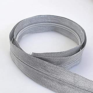 JWJY 3# 5# Open-End Nylon Zipper for Sewing DIY Zip Sports Coat Clothes Zippers Garment Accessories (Color : Silver, Size : 3#)