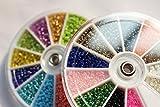 Fliegenbinden in 24Farben, klein, sinkend, Glas, Keramik, imitieren Nymphenköpfe, Material zum Fliegenbinden