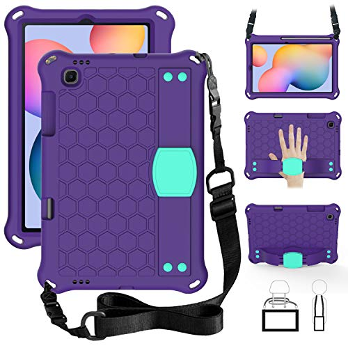 TabPow Kids Case for Samsung Galaxy Tab S6 Lite 10.4 (P610/P615) 2020, Kidsproof Tablet Cover with Shoulder Strap and Stand, Hand Grip