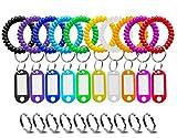 Wrist Keychain Key Tags- Spring Spiral Stretch Coil Wristband Key Ring Key Chain, for Gym, Pool, ID Badge,Keys(10Pack)