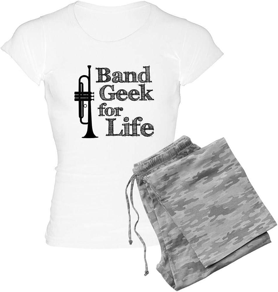 CafePress Trumpet Band Geek Womens Light Womens PJs