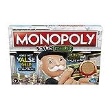 Monopoly Geld-Brettspiel für Familien und Kinder ab 8 Jahren mit Mr. Monopolys Detektor für Falschgeld und Falschkarten für 2-6 Spieler