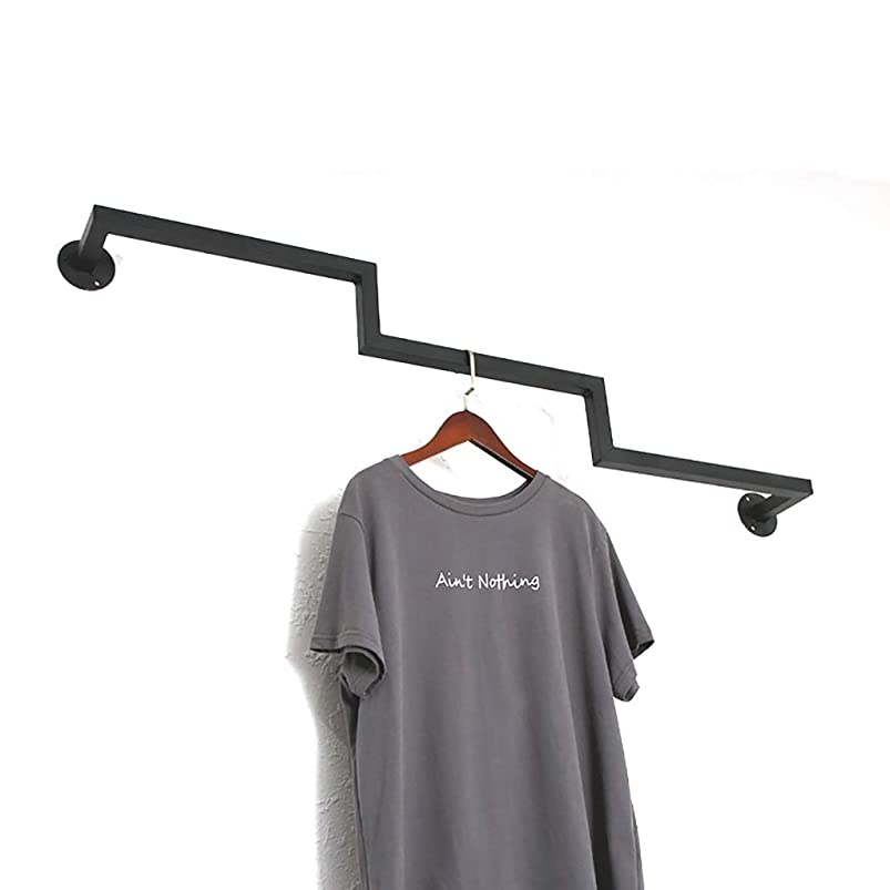 北西守銭奴広がりコート洋服ラック 鉄製のシンプルな壁衣料品店のハンガーディスプレイラック壁掛け棚 (サイズ さいず : 120cm*10cm)