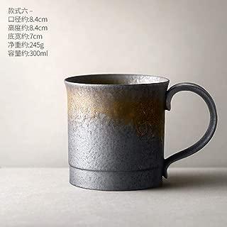 Cafe Vaso Tétazas De Té De Porcelana Japonesa Taza De Café Retro Taza De Taza De Agua Doméstica Vintage Tazas Negras De Cerámica Creativas Latte Cup Teacup, Style 6