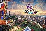 Rompecabezas creativo Puzzle rompecabezas de madera for adultos 1000 piezas Hada de la India de dibujos animados alfombra voladora princesa Descompresión Príncipe Challenge Juego del Cerebro de dificu