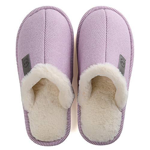 Zapatillas Invierno Zapatillas De Felpa De Invierno paraHombre Y Mujer A La Moda,Zapatos De Algodón para Interiores Cálidos Y Gruesos para El Hoga