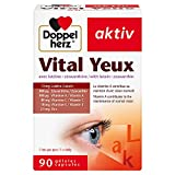 Doppelherz – Vital Yeux – Complément alimentaire vision et santé des yeux – Lutéine & Zéaxanthine + Vitamines et Zinc – Pour une bonne acuité visuelle – 90 capsules