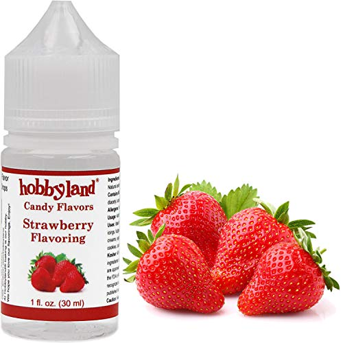 Hobbyland Candy Flavors (Strawberry Flavoring, 1 Fl Oz), Strawberry Concentrated Flavor Drops