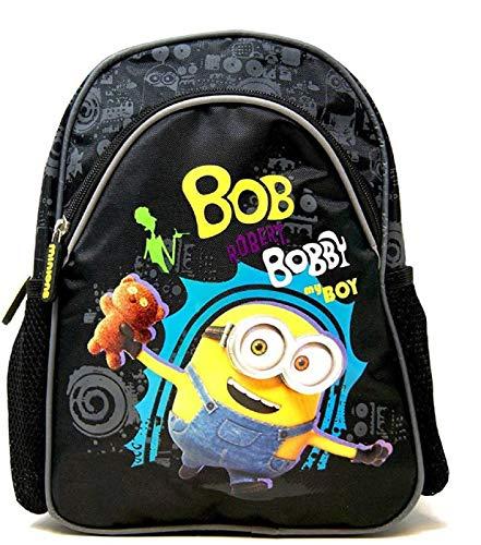 Kinderrucksack Kindergarten Rucksack Kindergartentasche Wanderrucksack kompatibel mit Minions Bobby mit Teddy-Bär Motiv mit gepolsterten und höhenverstellbaren Tragegurten