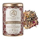 AKEBONO TEA (アケボノティー) テイル オブ ゲンジ 30g 缶 茶葉 オーガニック 有機 低カフェイン 日本茶 緑茶 国産 静岡 煎茶 ハーブティー 紅茶 ブランド 高級 おしゃれ かわいい ギフト
