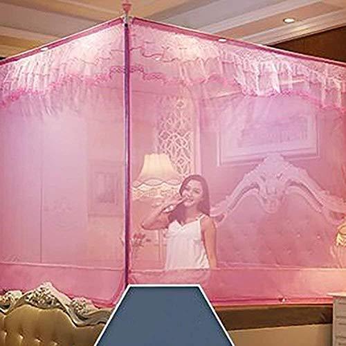 gengxinxin Moustiquaire De Lit De Lit Moustiquaire À Installation Facile Simple Style Doors Bed Sitting Yourte Home Double Mosquito Curtain Pink Queen1 (Color: Color Size: Size) -Size_Colour