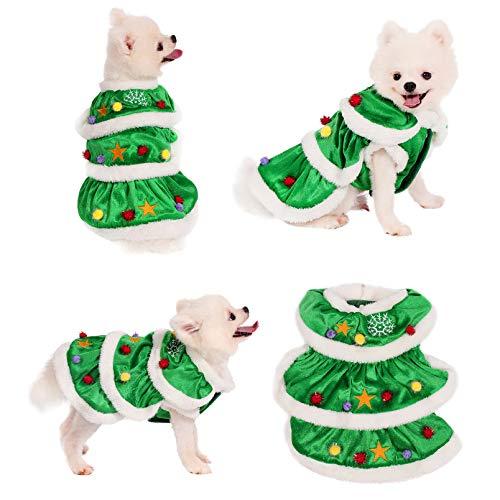 Yoption Christmas Tree Dog Cat Costume, Funny Pet Christmas Cosplay Dress Outwear Coat Apparel Hoodie (M)