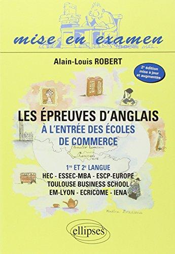 Epreuve Danglais A Lentree Des Ecoles De Commerce