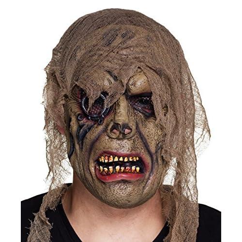 Boland- Maschera Horror Pirata Zombie in Lattice con Stoffa per Adulti, Beige, Taglia Unica, 97541