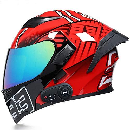 Casco de Moto Integral Bluetooth Cascos abatibles Cascos modulares Casco de Motocicleta de Cara Completa,Certificado ECE, para Adultos Hombre o Muje (Size:M=57-58cm)