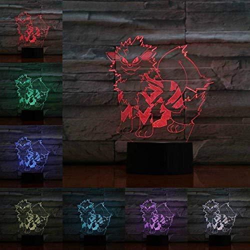 Juego de luces 3D de dibujos animados, con personaje de Aanine Perro Luz nocturna USB LED multicolor para niños niños jóvenes regalo juguete vacaciones gadget
