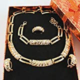 KDFN Mujeres African Beads Jewelry Sets CZ Crystal Collar Anillo...