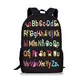 PrelerDIY Cute Animal Alphabet Kids Backpack School Children Book Bag Travel Lightweight Daypack for Boys Girls 17 Inch