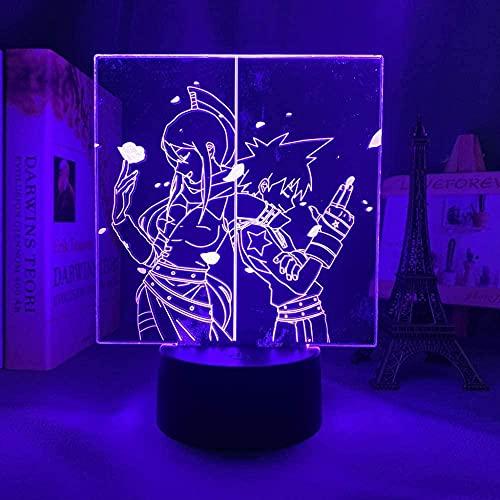 3D ilusión lámpara de mesa de estado de ánimo noche luz alma comedor para dormitorio decoración aniversario manga gorn-7 colores sin control remoto-7 colores sin control remoto