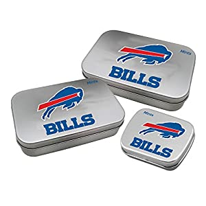 Worthy Promotional NFL Buffalo Bills Decorative Mint Tin 3-Pack with Sugar-Free Mini Peppermint Candies