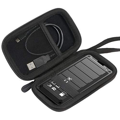 Aenllosi Hart Tasche Hülle für Western Digital WD_Black P50 Game Drive SSD 500GB 1TB 2TB Externe Festplatte Schwarz