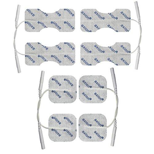 8 Electrodos para dedos muñeca - Parches TENS EMS para tratamiento del dolor y la osteoartritis - conexión clavija 2mm - Almohadillas para electroestimuladores conexión universal de clavija 2mm
