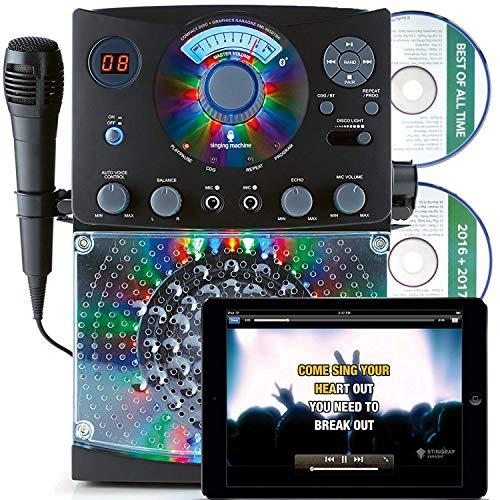 Singing Machine Singing Machine Sml385 Karaoke Equipment with Bluetooth 1 Microphone and 36 Current Tracks - Black