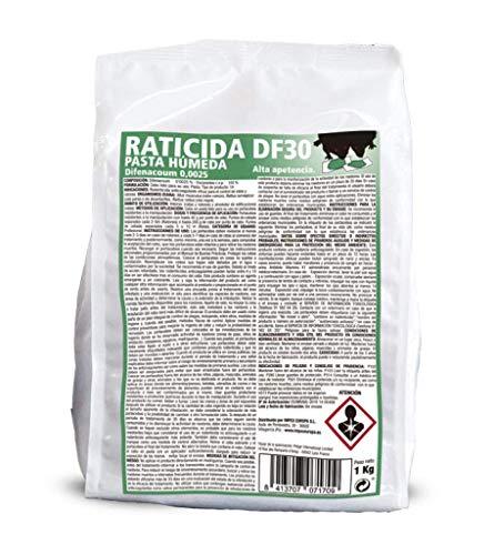 IMPEX EUROPA Pasta húmeda DF-30, Cebo Fresco para Control de Ratas y Ratones - 1 kg (Cebos 10 gr)