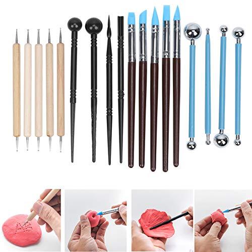 Bolígrafo de doble cara, barra de indentación, herramientas para hacer cerámica, barra de plegado para diámetro para arenas