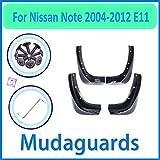 JJJJD para Nissan Note 2004~2012 E11 2005 2006 2007 2009 2010 2011 2011 2011 Coche Fender Mudguard Mud Splaps Guard Splash Flap Accesorios para automóviles