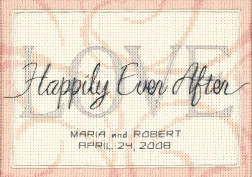 DIMENSIONS Happily Ever After Wedding Record Counted Cross Stitch Kit Personalized Wedding Gift, 7' x 5'