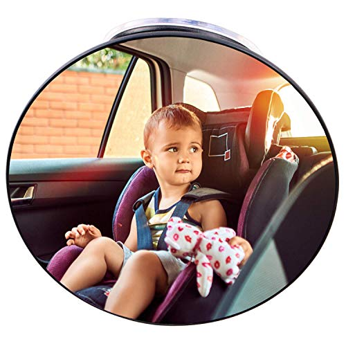 Baby Car Mirror Suction Cup, Forward Facing Baby Rear View Mirror for Car, Back Seat Infant Car Mirror Rearview Mirror for cars without Headrest