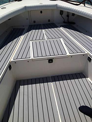 Insun Bodenbelag Anti Rutsch Matte Fußboden Selbstklebend Deckbeschläge für Boote Jacht Grau 240x60cm