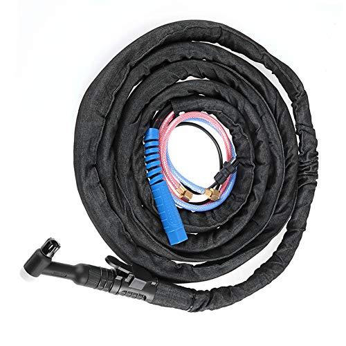 Antorcha Tig, antorcha de soldador Tig, industria de soldadura profesional duradera 350A para soldador TIG WP18 Soldadura por arco de argón refrigerada por agua(8 meters overweight)