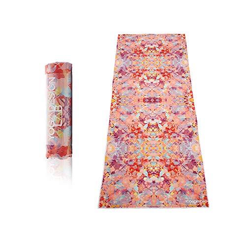 Yoga Design Lab Hot Yoga Handtuch | rutschfest, leicht, recyceltes, saugfähiges Mikrofaser Yogahandtuch | schnelltrocknend, waschmaschinenfest (Kaleidoscope)