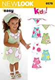 New Look Sewing Pattern 6578 Toddler Dresses, Size A (1/2-1-2-3-4)