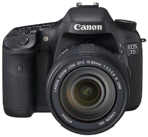 Canon EOS 7D SLR-Digitalkamera (18 MP, 7,6cm (3 Zoll) LCD-Display, Live-View, Full-HD Movie, Kit inkl. EF-S 18-135mm IS Lens) schwarz