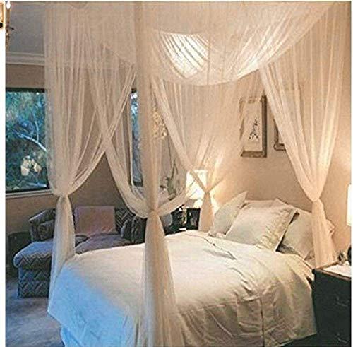 Souarts Moskitonetz Moskito Fliegennetz Baldchin Mückenschutz für Doppelbetten Kinderzimmer Weiß