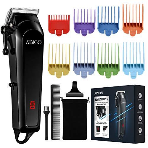Máquina Cortar Pelo Profesional ATMOKO, Con 8 Peines de Colores (0.5-25mm), Recortadora de Barba Hombre y Cortapelos Hombre Silencioso, Inalámbrico,Cortapelos Recargable USB para Familia
