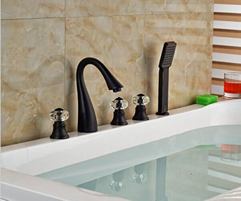 Gowe Elegante l eingerieben Bronze Badewanne Auslauf Spültischbatterie Badewanne Spritze Badezimmer Badewanne Wasserhahn