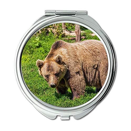 Yanteng Spiegel, Schminkspiegel, Tierbär, Taschenspiegel, tragbarer Spiegel