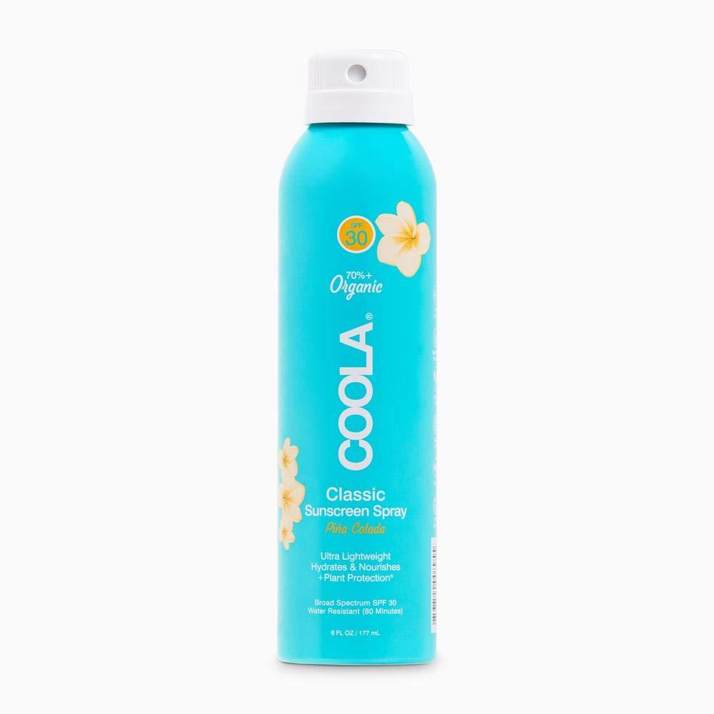 COOLA Organic Sunscreen SPF 30 Sunblock, Body Spray and Sun Skin Care for Daily Protection, Pina Colada