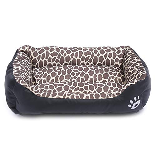 zhenghewyh Hundebett Grosse Hunde Hundekorb Mittelgroße Waschbar S M L XL (XL, Leopard)
