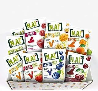 N.A! - Kit Sucré de 21 Sachets de Fruit Sticks framboise (x3), fraise (x3), myrtille (x3), pomme(x3), mangue/passion(x3),a...