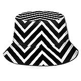 Gorras Sombrero de Pescador Chevron Blanco Sombrero de Pescador Sombrero antivaho de ala Grande