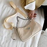 Hzryc Bolso De Las Mujeres del Hombro Bolsas Bolso Bandolera De Lujo De Las Mujeres De La Moda Mensajero Mujeres,Blanco,23x13x7cm
