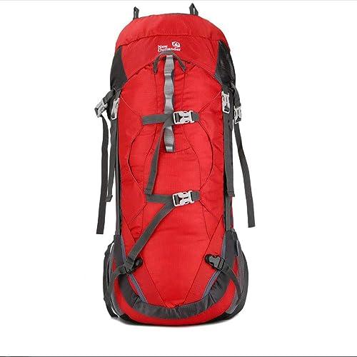 Yu&cw Sac de Voyage Multifonctionnel Alpinisme en Plein air sur Le Terrain Sac de Campagne Rouleau de Couverture Sac à Dos en Plein air Randonnée Camping Sac à Dos,rouge